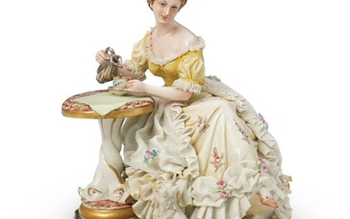 Capodimonte King's Porcelain Figural Group