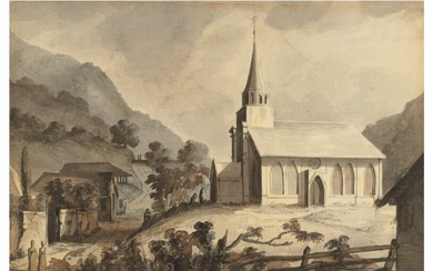 Captain Thomas Abercrombie Trant (1805-1832), Church at St Joseph's, Trinidad; St Joseph's; and Pandemonium. My House in Port of Spain