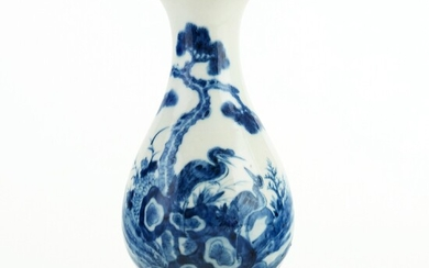 Chinese Blue and White Porcelain Vase Republic Period