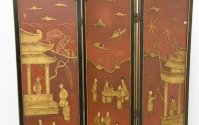 Chinese lacquer screen (Ht.175cm)
