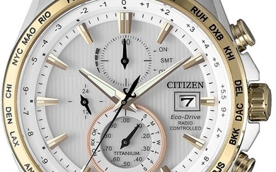 Citizen - Super Titanium Herren Chronograph Radiocontrollato- AT8156 - Men - 2019