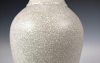 Crackle Finished Chinese Vase