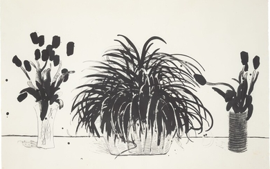 David Hockney, Two Vases of Cut Flowers and a Liriope Plant (Gemini G.E.L. 915; M.C.A.T. 232)