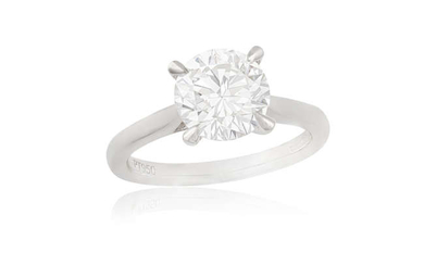 Description A DIAMOND SINGLE-STONE RING The brilliant-cut diamond weighing...