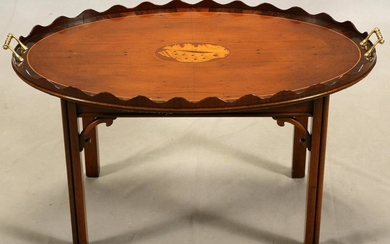 ENGLISH CHIPPENDALE ROSEWOOD TRAY TABLE