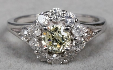 Edwardian Style 14K White Gold Diamond Ring