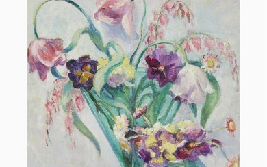 Elizabeth Fisher Washington (American, 1871–1953) Floral Design Signed bottom...
