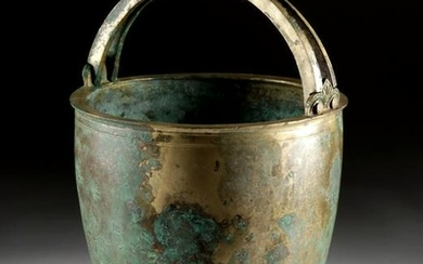 Exquisite Greek Bronze Situla Stunning River Patina