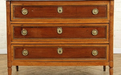 FRENCH DIRECTOIRE STYLE MARBLE TOP COMMODE C.1820