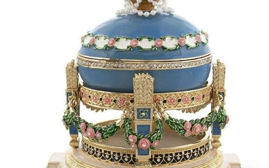 Faberge-Style Love Trophies Royal Russian Music Box