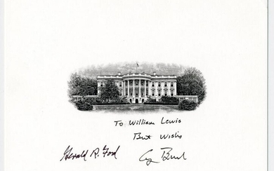 Gerald Ford & George H.W. Bush Signed BEP White House