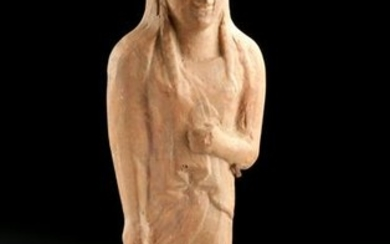 Greek Archaic Terracotta Alabastron - Female Kore w/ TL