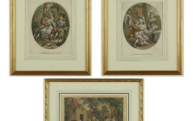 Grp: 3 French Engravings