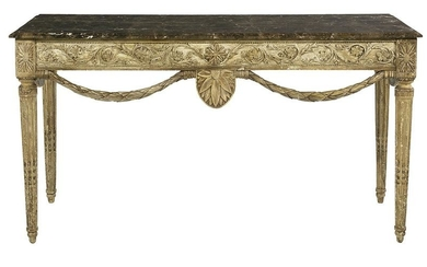 Italian Polychrome and Marble-Top Console/Server