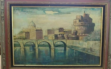 Italian school oil on canvas of Rome