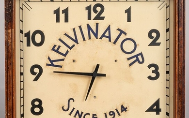 Kelvinator advertising wall clock