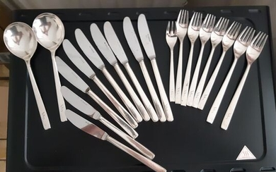 Knife, spoons and forks (19) - .800 silver - Germany - First half 20th century