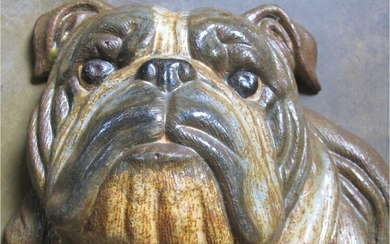 Large cast iron Bulldog doorstop 20thc GC3A