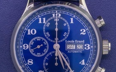 Louis Erard - Automatic Chronograph Watch 1931 Blue - 78225AA25.BDC37 - Men - BRAND NEW