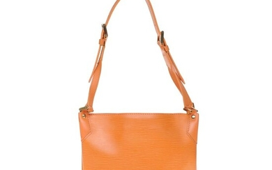 Louis Vuitton - Sac Mandara PM en cuir épi orange, garniture en métal doré Handbag
