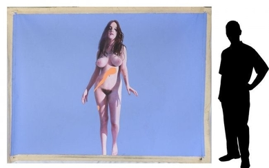 MARTIN HOFFMAN PAINTING STANDING NUDE PLAYMATE