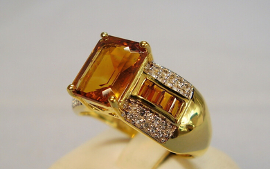 MEN'S RING MADEIRA CITRINE + WHITE TOPAZ.