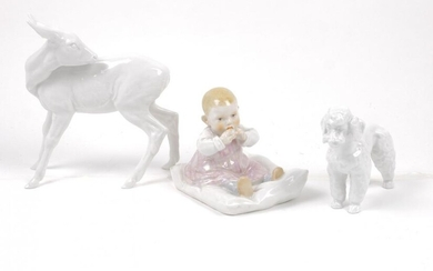 Meissen's child sitting on a pillow: Height...
