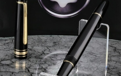 Montblanc - Fountain pen - Meisterstuck Pix 146 - Black 14K Gold Nib 4810 - Polished & Cleansed New Condition of 1