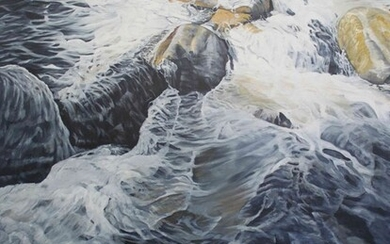 "Neville Storer B Ed (Hons) (British, B.1948) ""The Stream"", oil on canvas, signed to lower right"