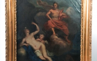 PAINTING OF ZEUS AND HERA IN CLOUDS.