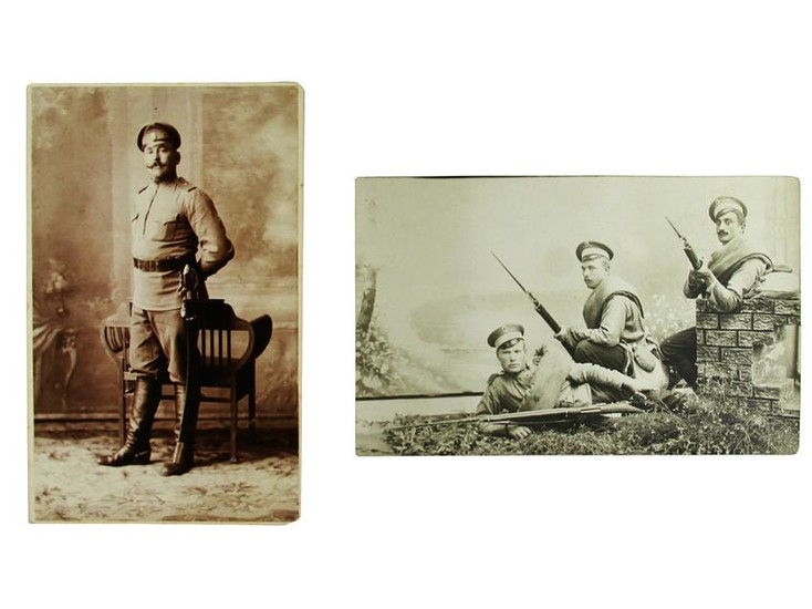 RUSSIAN IMPERIAL ARMY PHOTO SWORD AND MOSIN RIFLE