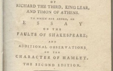 Richardson, Essays on Shakespeare's Characters 1786