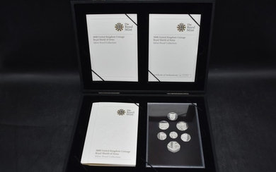 Royal Mint 2008 Royal Shield of Arms Silver proof coin set, ...