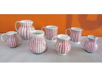 Rye design team for Rye pottery cottage stripe collection co...