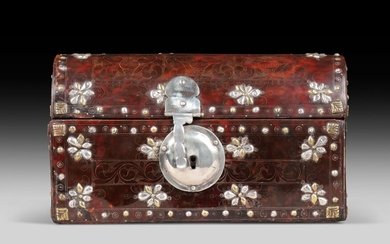 SPANISH COLONIAL, PROBABLY MEXICO, EARLY 17TH CENTURY, A domed casket