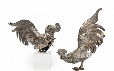 STERLING SILVER COCKFIGHT