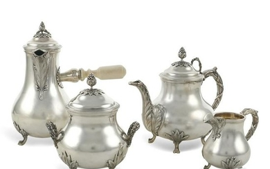 Silver tea and coffee service France, second half 19th