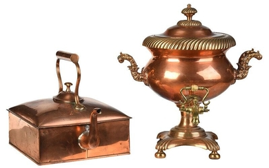 Square Copper Kettle and Copper Hot Water Urn