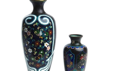 TWO JAPANESE CLOISONNE VASES MEIJI PERIOD (1868-1912)