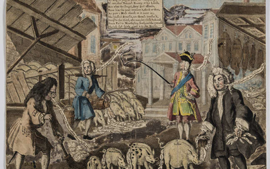 The fall of Robert Walpole.- Anonymous. A Cheap and Easy Method of Improving English Swine's Flesh by a German method of Feeding, 1743; and three others (4).