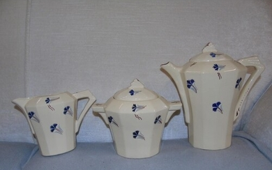 Three pieces of Art Deco period French faince by MDL France ...