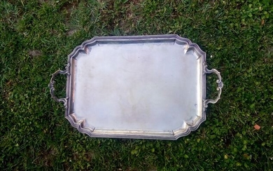 Tray, large (1) - .800 silver - Italy - 20th century