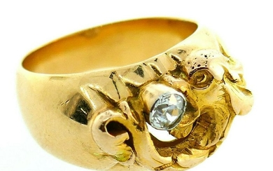 Victorian Mythical Fish Italian Dolphin 14k Rose Gold