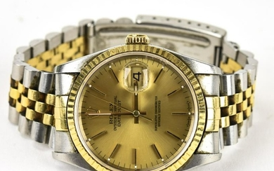 Vintage Two Tone 18kt Gold & Stainless Men's Rolex