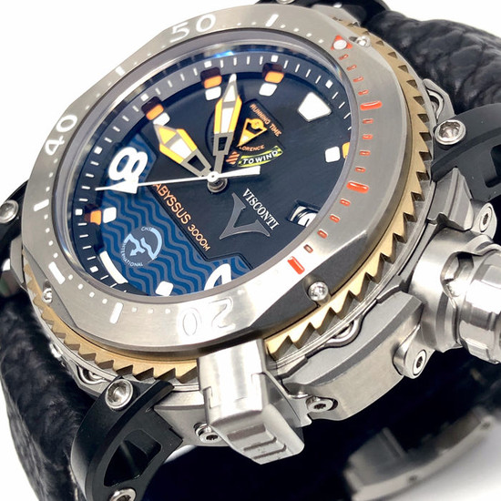 Visconti - Abyssus Pro Dive 3000M INOX Diver Watch EXTRA Strap - W108-00-123-1408 - Men - NEW