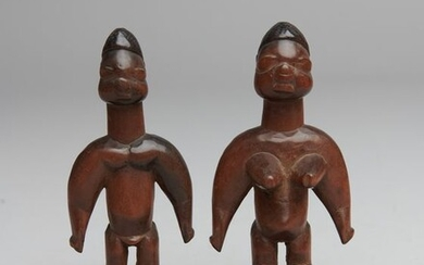 twin figures (1) - Wood - twin figures - Ewe - Togo