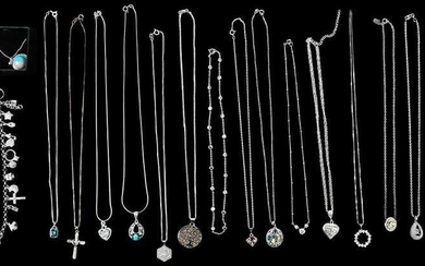 18 Pieces Silver Jewelry