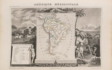 1852 Levasseur Map of South America - Amerique