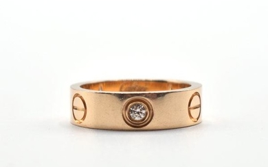 18K Yellow Gold Cartier Love Ring