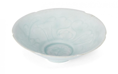 A Chinese qingbai porcelain lobed bowl, Song...